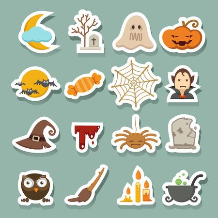 basic candy: Halloween icons Illustration