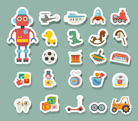 rocking horse: Toys icon vector