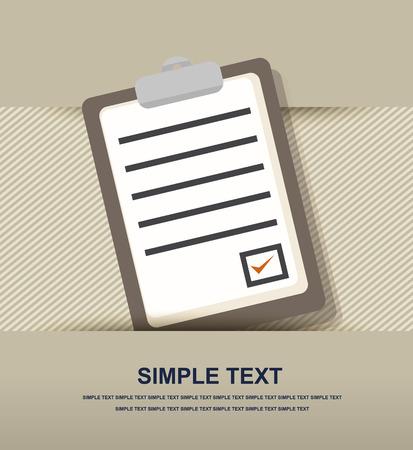 folio: clipboard list paper icon Illustration