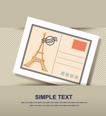 postcard back: Postcard icon