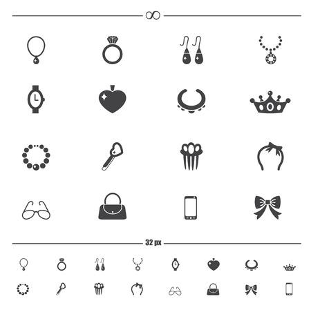accessoire: Accessoirepictogrammen Stock Illustratie