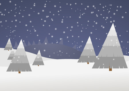 winter scene: winter scene vector