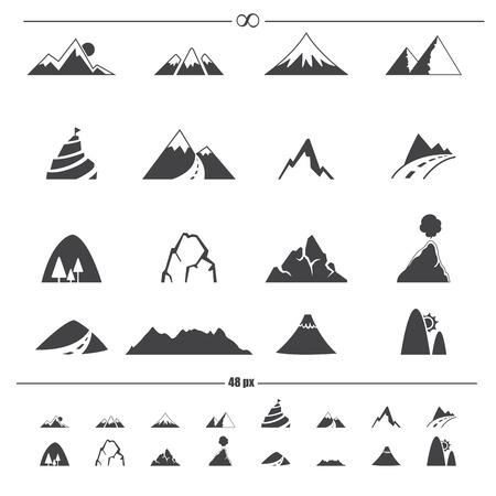 alp: Mountain icons