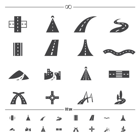 winding: road icons
