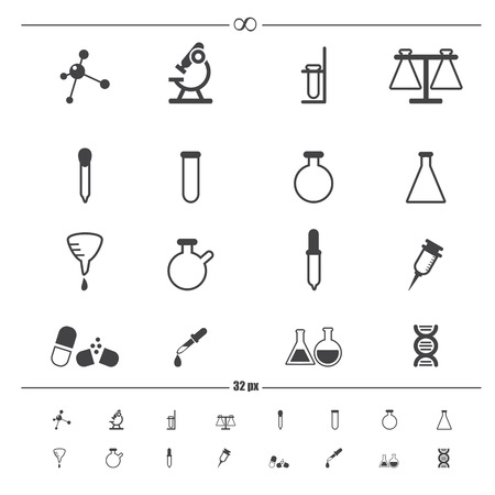 science icons  Stock Vector - 28389096