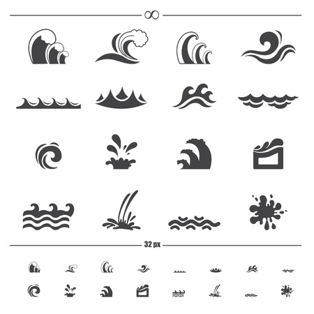 gale: water wave icons