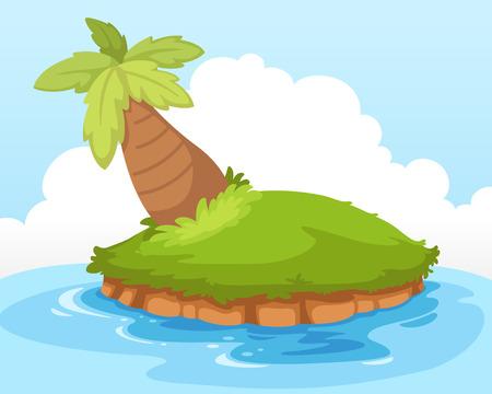 island isolated: tropical island