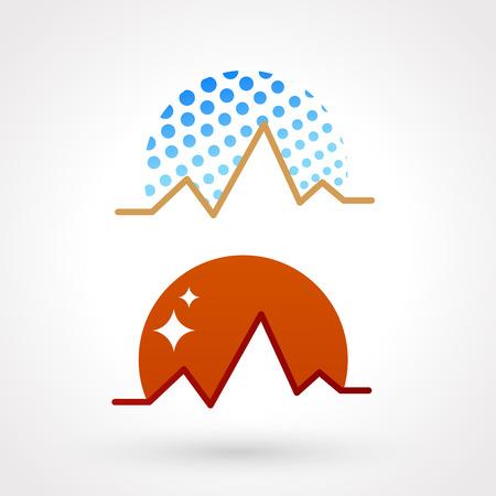 ice climbing: mountains symbol