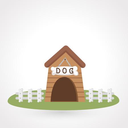 dog food: dog house icon