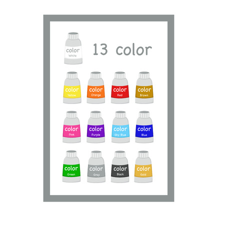 colorful paint: Colorful Paint Tubes Illustration