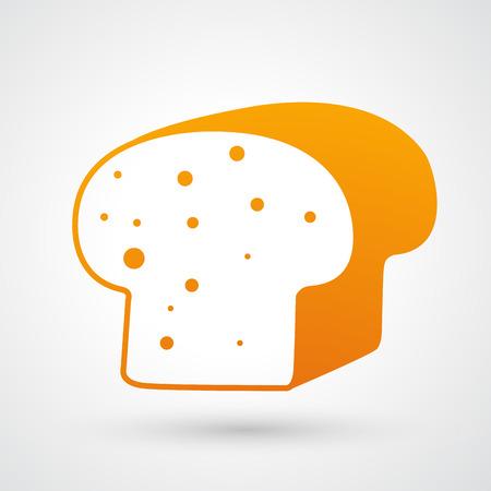 french toast: Bread icon Illustration