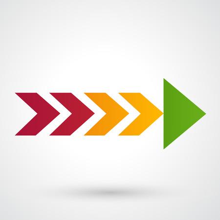 interface menu tool: Color arrow icon