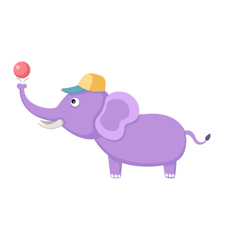 Elephant with Ball Vector
