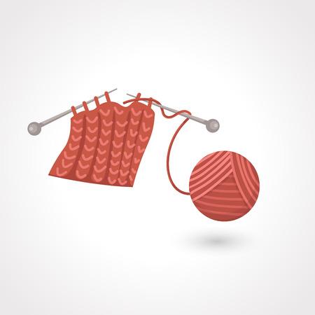 cotton wool: yarn ball Illustration