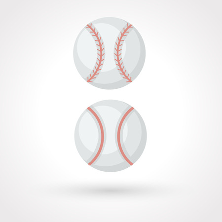 fastball: Bola de b�isbol icono Vectores