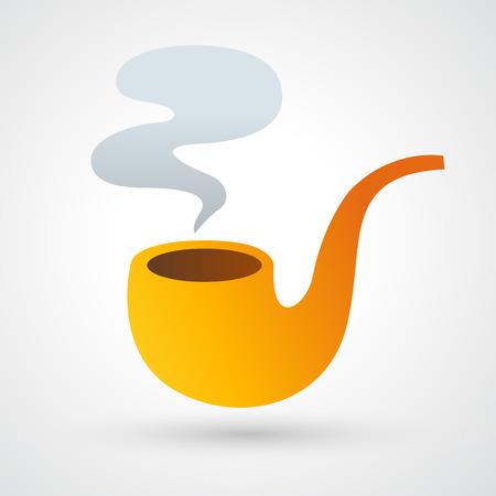 cigarette smoke: Cigarette and smoke icon