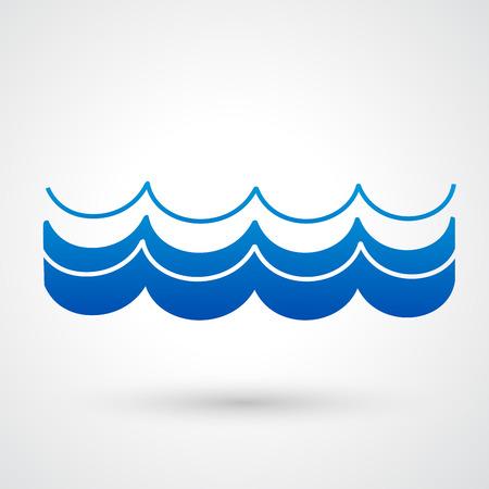 wasserwelle: Wasserwellensymbol