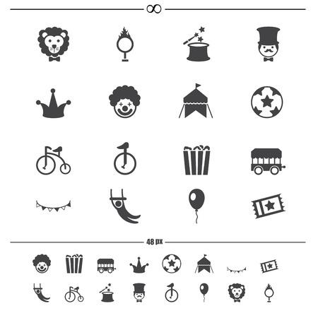Circus Icons vector eps10 Vector
