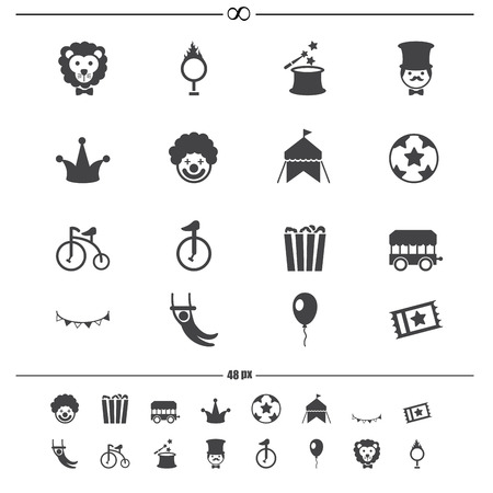 rabbit hole: Circus Icons vector eps10