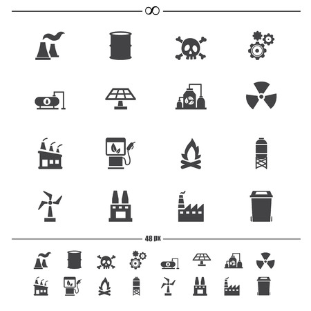 Factory icons vector eps10 Vector