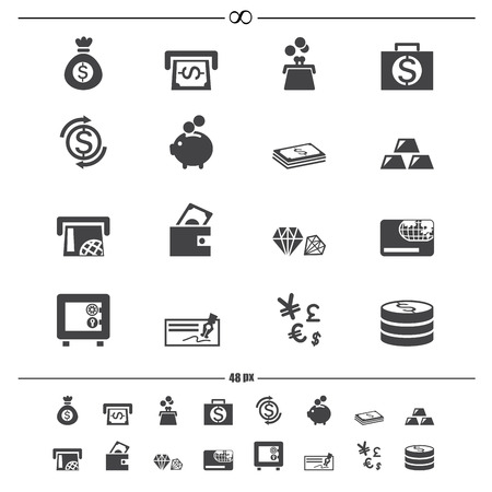 money icons vector eps10 Vector