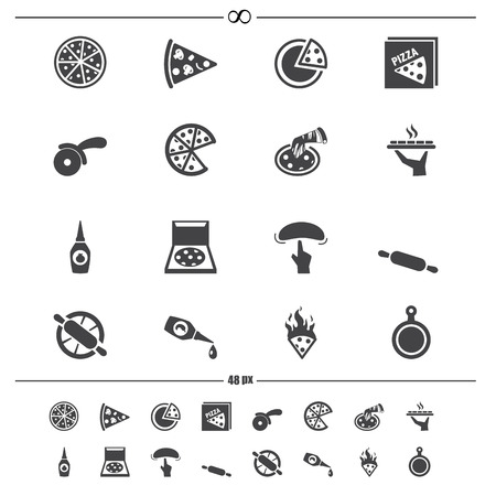slice: Pizza icons vector eps10