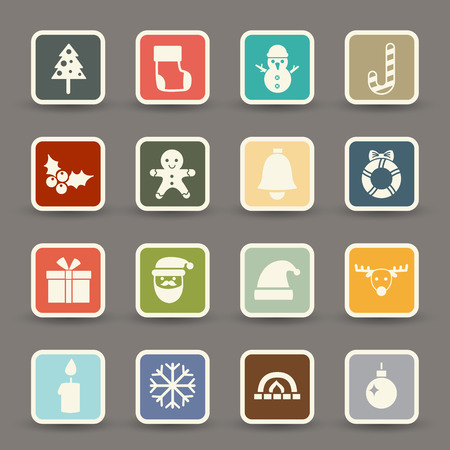 Christmas Icons  vector eps10 Vector
