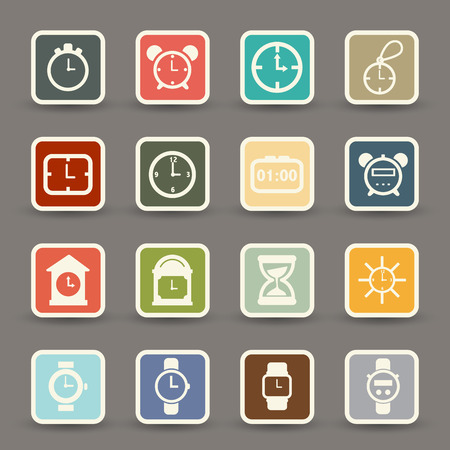 clocks icons vector eps10 Vector