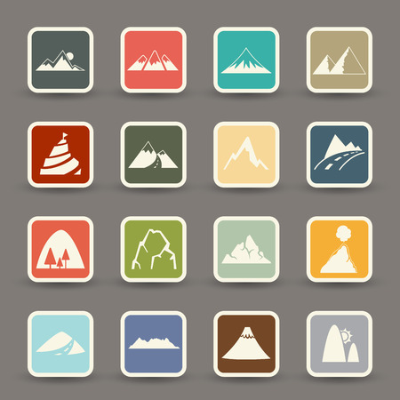 Mountain icons  vector eps10 Vector