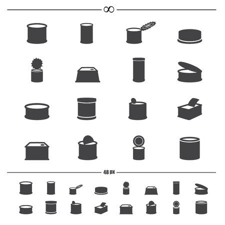 Abbildung von Konserven icons.Vector eps10 Vektorgrafik