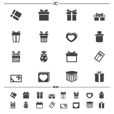illustration of gift box icons.vector eps10 Vector