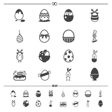 illustration of Celebration easter icons .vector eps10 Vector