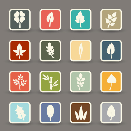 illustration of leaf icons.vector eps10 Vector
