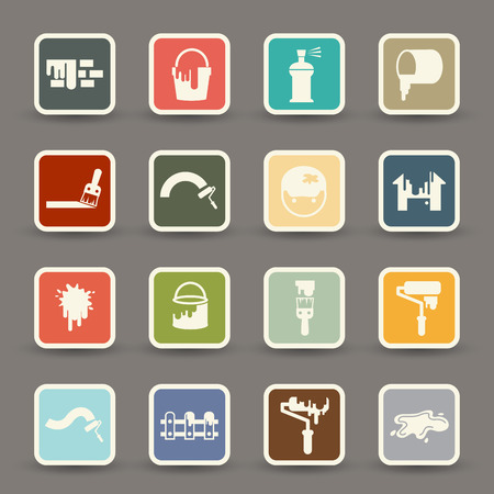 illustration of Painting Icons.vector eps10 Vector