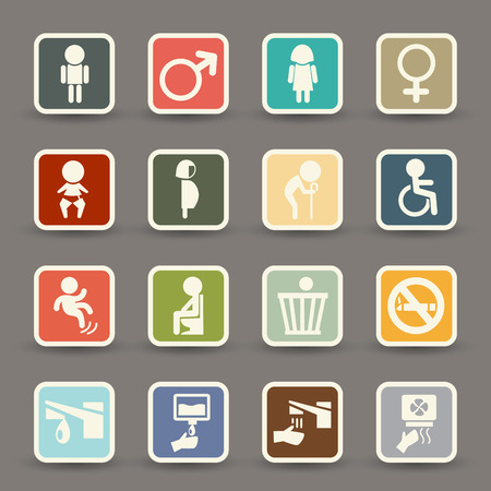 illustration of toilet icons.vector eps10 Vector