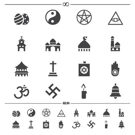 illustration of religion icons.vector eps10 Vector