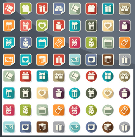 illustration of gift box icons Vector