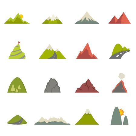 Illustration des icônes de montagne Banque d'images - 29382395