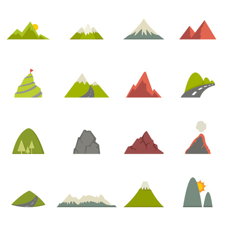 alps: illustration of Mountain icons  Illustration