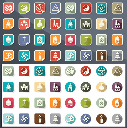 illustration of religion icons  Vector