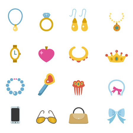 illustration of accessory icons  Vector