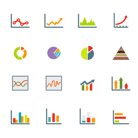 illustration of infographics icons  Vector