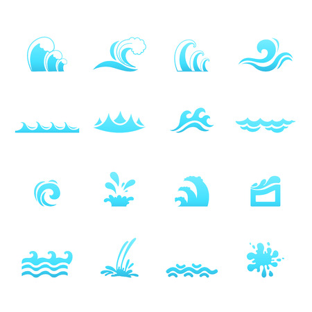 spume: illustration of water wave icons vector eps10