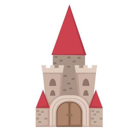 gothic window: illustration of castle