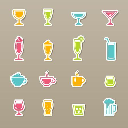 whine: illustration of drink icons set Illustration