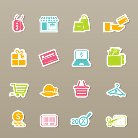illustration of shopping icons Vector