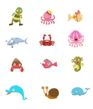 illustration of animal set Vector