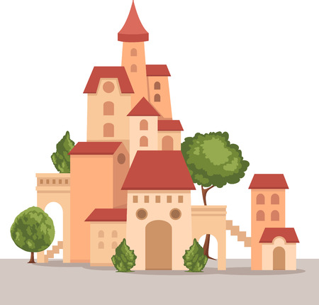 illustration of castle Vector