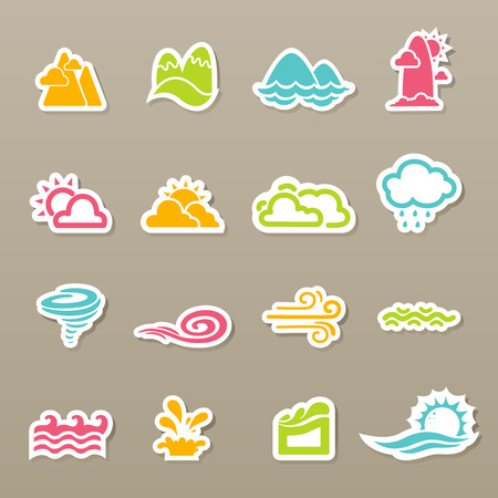 rainy season: illustration of season icons