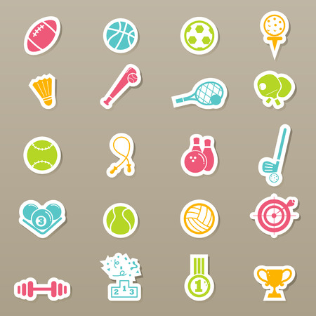 illustration of Sports Icons Vector